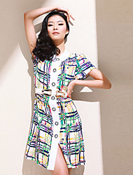 Huamuyu Women's Vintage Loose Fit Dress