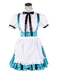 Vocaloid - Alice in the Wonderland Hatsune Miku Blue Cosplay Maid Costume
