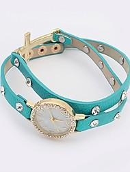 Btime Женская мода куранты заклепки кожаный браслет