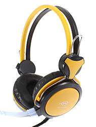 3.5mm Stereo On-ear Headphone for PC/MP3/MP4/Telephone (Yellow)