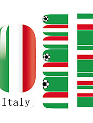 2x14PCS Italy World Cup Pattern Nail Art Stickers