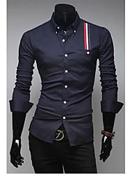 Casual Stripes Enfeite a camisa dos homens