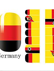 2x14PCS Германия Кубок мира Pattern Nail Art Наклейки