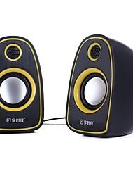 Music-F High Quality Stereo USB 2.0Multimedia Speaker V-14(Black+Yellow)