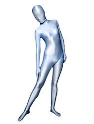 Disfraces Zentai Ninja Zentai Disfraces de Cosplay Plateado / Azul Un Color Leotardo/Pijama Mono / Zentai Licra Spándex UnisexHalloween /