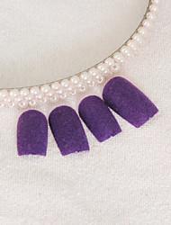 12PCS Purple Velvet Nail Art Tips mit Kleber