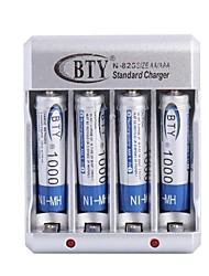 BTY-825 Battery Charger for AA AAA Battery with US Plug(Included 4xAAA)