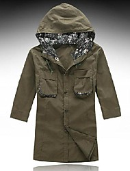 Men's Short Sleeve Shirt , Lycra/Nylon/Organic Cotton Casual Pure