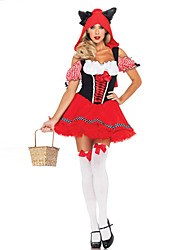 Little Red Riding Hood Maid Style Red Women's Carnival Party Costume