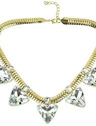 Canlyn Damenmode Schlangenkette mit Edelstein Kurze Halskette