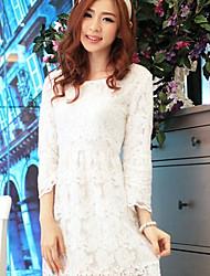 Mujeres Caelyn Lace Print Recortable Vestido blanco