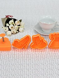 Plastic 3D Vogue Style CBRL Cookie Mould Set of 4 Piece