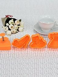 Plastique Vogue style 3D CBRL Cookie Mould Ensemble de 4 pièces