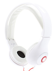 Fashion Stereo High Quality On-ear Headphone for PC/MP3/MP4/Telephone(White)