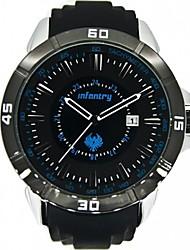 Новый пехоты Полиция Мужская армии Тактический Спорт ДАТА кварцевые наручные часы черный RubberStrap часы (синий)