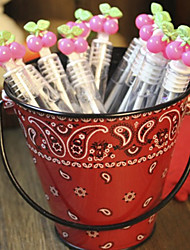 Wedding Décor Cherry Bubble Tubes for s and Party - Set of 12 (Solution Not Included)