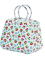 Creative Handbag Design Cherry Pattern Metal Box