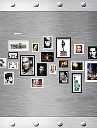 Black White Mixed Color Photo Frame Collection Set of 20