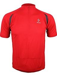 Arsuxeo Mens Short Sleeve Ademende + sneldrogend Jersey