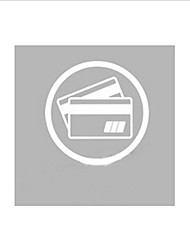 Modern Credit Card Service Icon Window Sticker