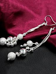 Élégant de qualité Boucles d'oreilles pendantes femmes alliage Tassel slivery (1 paire)