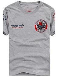 Herren Rundkragen Kurze Ärmel T-Shirt