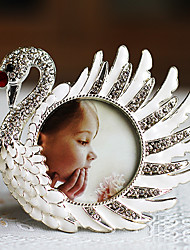 Modern Style Lovely Swan Shape Metal Picture Frame