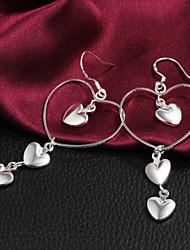 Élégant de qualité Boucles d'oreilles pendantes femmes alliage slivery (1 paire)