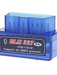 LSON ELM327C Super Mini Bluetooth V1.5 OBD-II escáner herramienta de diagnóstico auto del coche - Azul