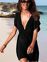Hielo femenino vestido de seda La Playa