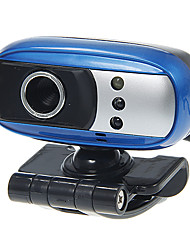 Rectangle Shaped Portable 8 Megapixel Webcam with Mic Night Vision LED