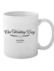 Personalized Ceramic Mug for Wedding