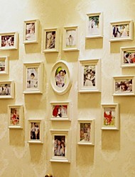 White Photo Wall Frame Collection Set of 19