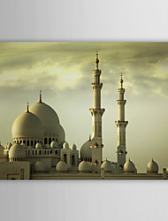Stretched Canvas Print Art Landscape The United Arab Famous Grand Mosque