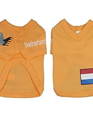 Netherland  Soccer Jersey 100% Cotton  for Pet Dog and Cats  (Assorted Sizes)