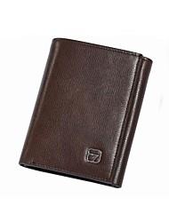 Homme Style d'affaires Top véritable chéquier en cuir de sac à main Porte-monnaie