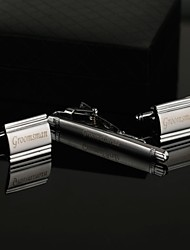 Gift Groomsman Personalized Men's Cufflinks and Tie Clip Sets with Gift Box