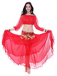 Dancewear Women's Chiffon Ruffle Belly Dance Skirts(More Colors)