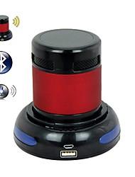 Falante estéreo Bluetooth V2.0 EVA E301 + EDR w / TF / Microfone + doca de carregamento USB - (vermelho + preto)
