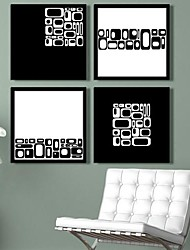 Art From The Square Abstract  Framed Canvas Print Set of  4