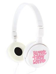 IP-803 3,5 mm pour écouteurs Salut-Fi Sur-Oreille Headphone (Blanc)