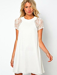 Women's Black/Blue/Red/White Dress , Lace Short Sleeve