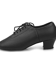 Unisex Leatherette Lace Latin Dance Shoes