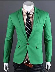 Männer Slim Knitting Kontrast Farbe pur Blazer