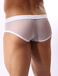 Men's Sheer White Brief Panties
