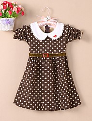 Girl Doll Collar Dots Vestidos