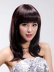 Fashion  Hair Neat   Bang    Long    Straight    Hair  Wigs