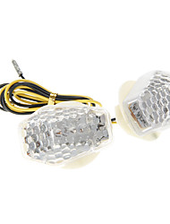 DC12V 1W Decorazione Motorcycle Parts LED Honeycomb Turnlight Per GS (2 Pezzi)