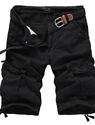 Short / Pantalon de Sport Pour des hommes Couleur plaine Décontracté Coton Noir