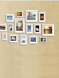 White Photo Wall Frame Collection Set of 15